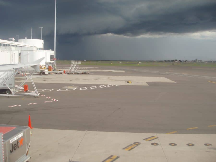 storm approaching airport