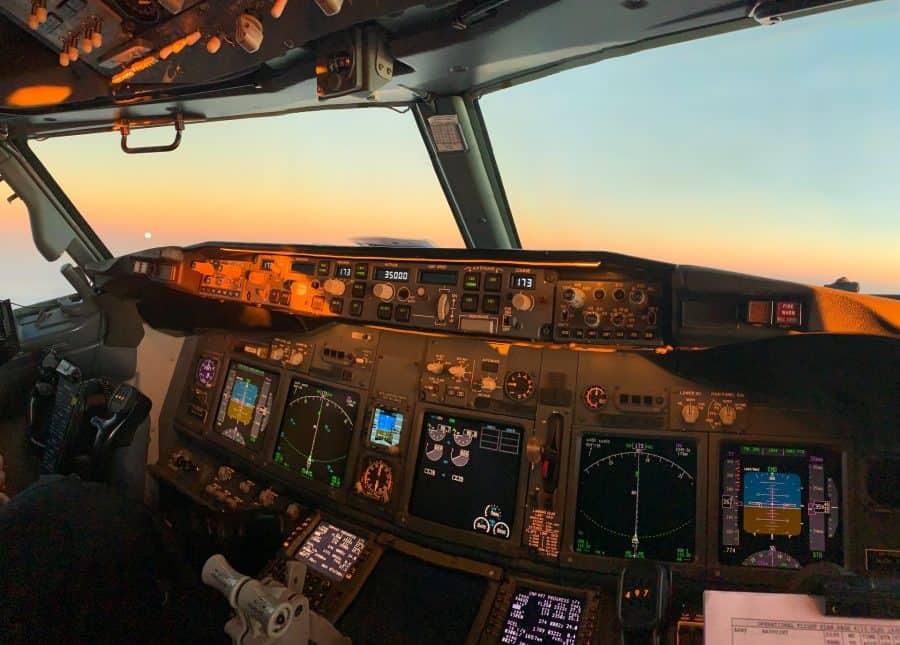 Cockpit at dusk
