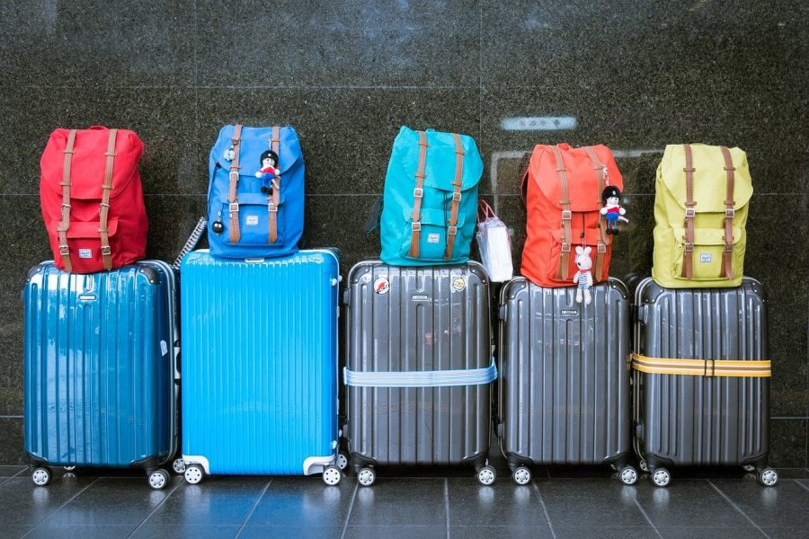 Luggage & carry-on lined up