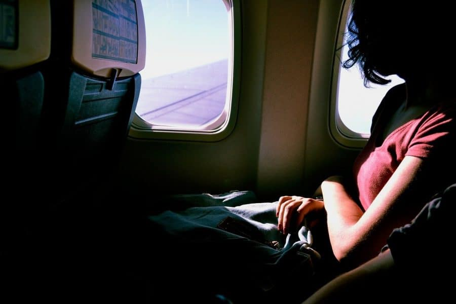 Enjoying the view from the window seat